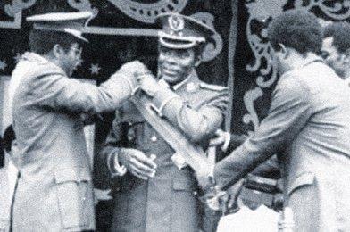 En el centro, el Presidente Obiang – Fuente: PDGE