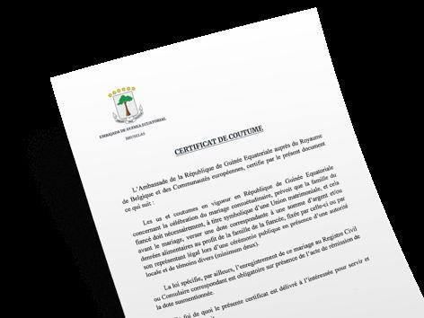 Demande de certificat de mariage et de célibataires