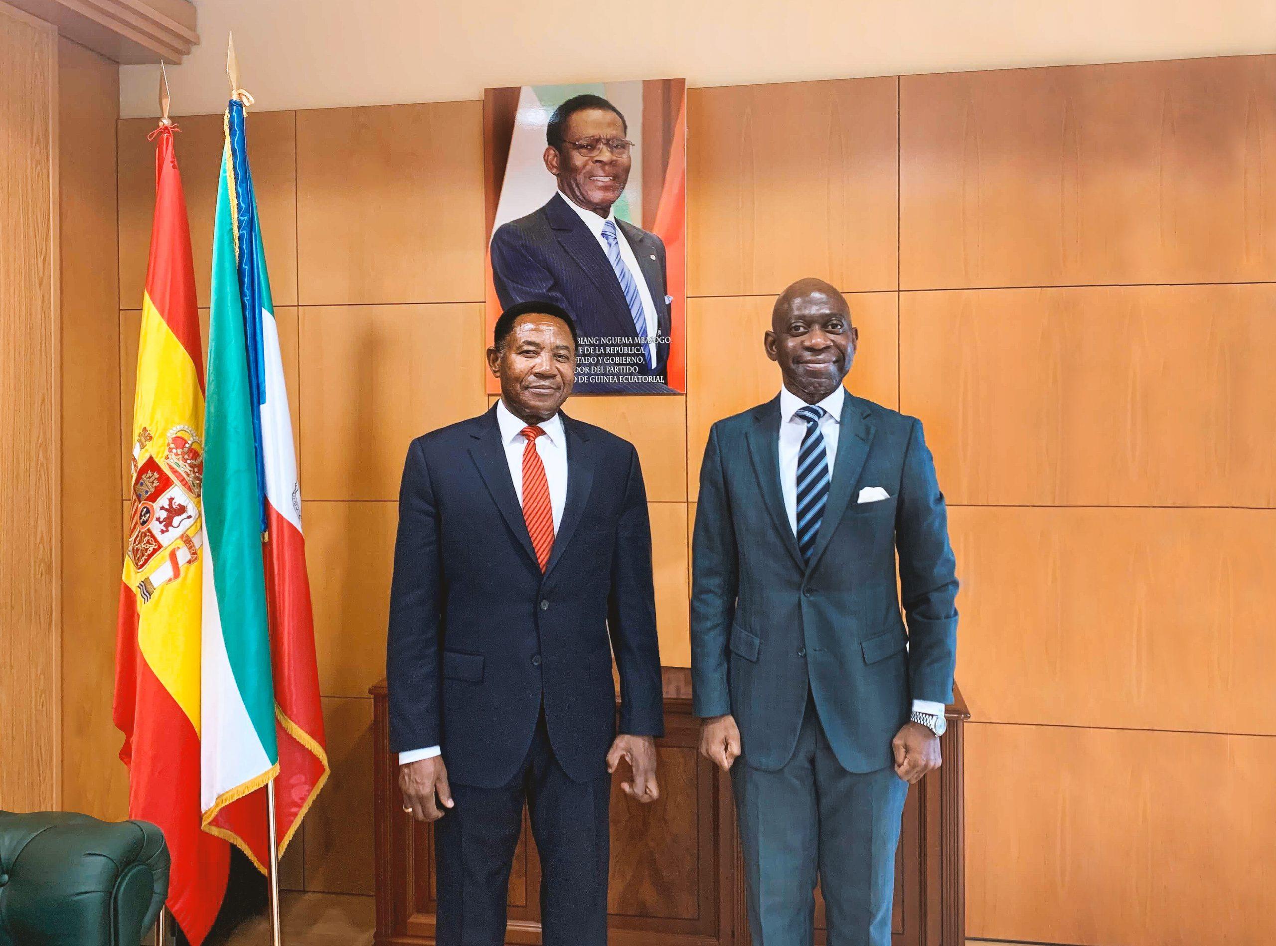 Nvono-Ncá y Embajador Guinea Ecuatorial Madrid