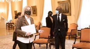 Presidenta Parlamento accidente Bata